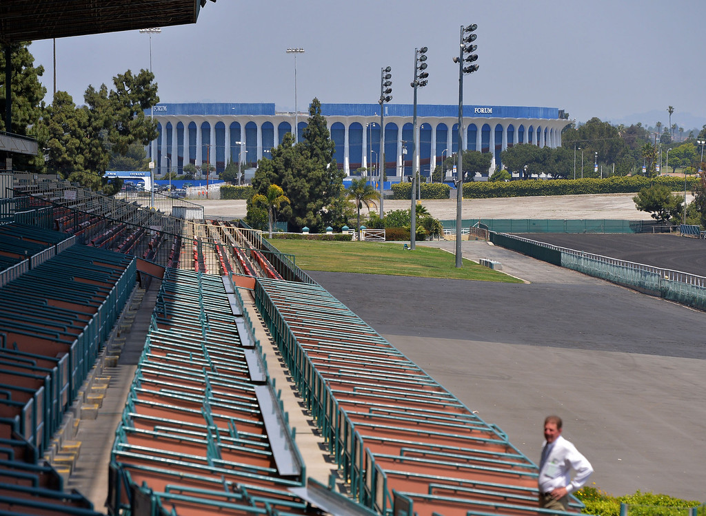 . Hollywood Park in Inglewood will be closing at end of year. The track is facing the same fate as the adjacent Forum.  (5/9/13)   Photo: Robert Casillas / LANG