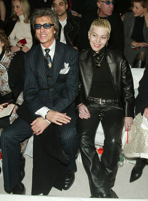 . NEW YORK - FEBRUARY 10: Choreographer Tommy Tune and rocker Joan Jett attend the Cynthia Steffe Fall/Winter 2003 Collection fashion show at the Theater in Bryant Park during Mercedes-Benz Fashion Week February 10, 2003 in New York City.   (Photo by Evan Agostini/Getty Images)