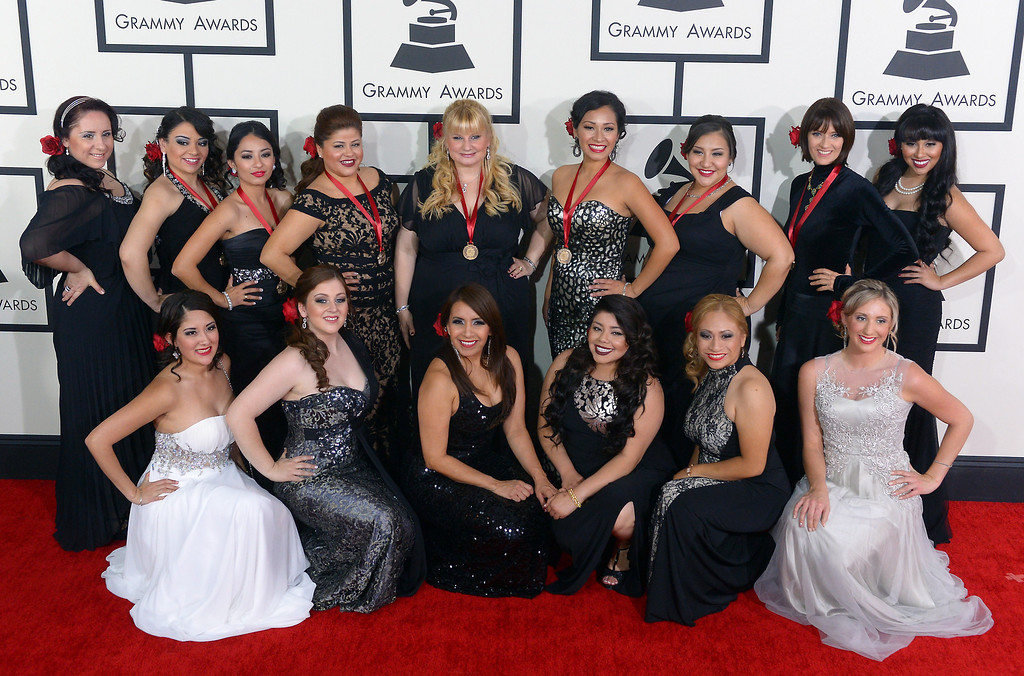 . Mariachi Divas arrive at the 56th Annual GRAMMY Awards at Staples Center in Los Angeles, California on Sunday January 26, 2014 (Photo by David Crane / Los Angeles Daily News)