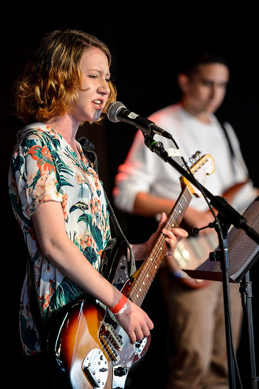 . Siena Riley and The Hatters perform at the 40th annual Topanga Days celebration in Topanga Sunday.  The celebration continues Monday with more bands scheduled to perform.   Photo by David Crane/Los Angeles Daily News