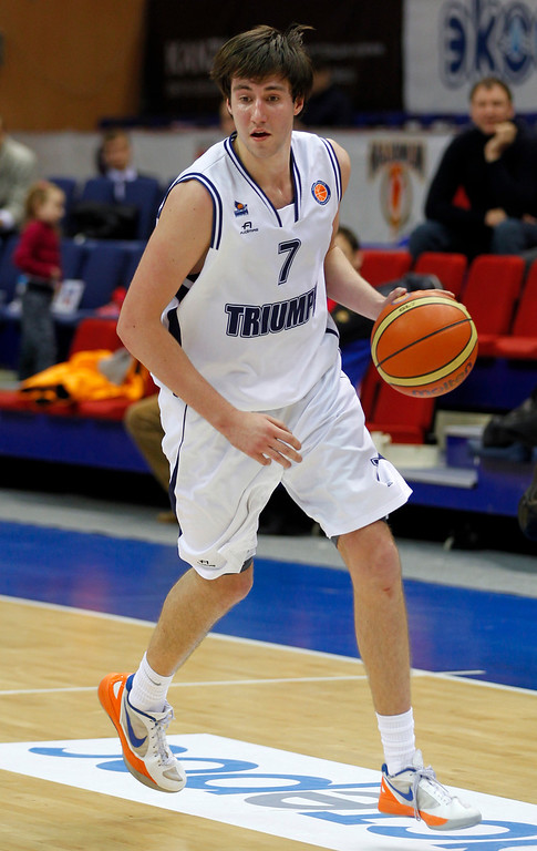 . <b>19. Cleveland (from Lakers) - Sergey Karasev </b> <br />6-7, 197 Shooting guard, Russia  (AP Photo/Mikhail Serbin)