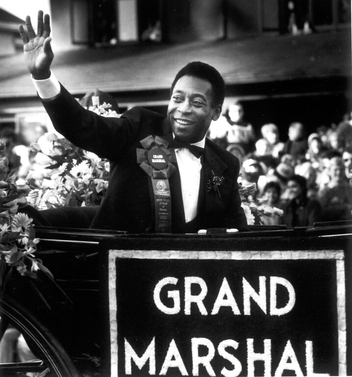 . 1987 Rose Parade grand marshal, Pele.   L.A. Daily News file photo