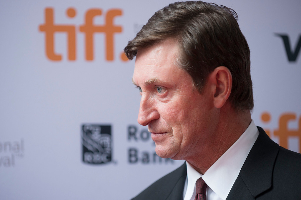 """. Wayne Gretzky seen at the premiere of \""""Red Army\"""" at the Ryerson Theatre during the 2014 Toronto International Film Festival on Tuesday, Sept. 9, 2014, in Toronto, Ontario. (Photo by Arthur Mola/Invision/AP)"""