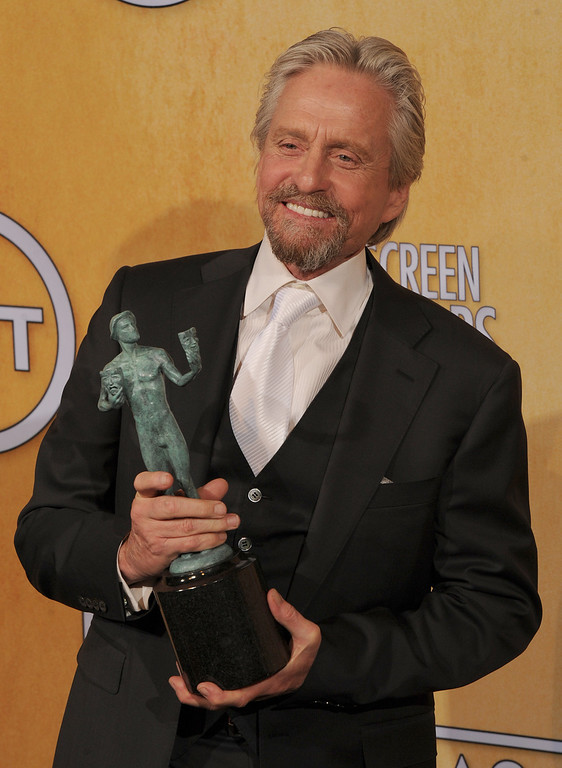 . Michael Douglas backstage at the 20th Annual Screen Actors Guild Awards  at the Shrine Auditorium in Los Angeles, California on Saturday January 18, 2014 (Photo by John McCoy / Los Angeles Daily News)