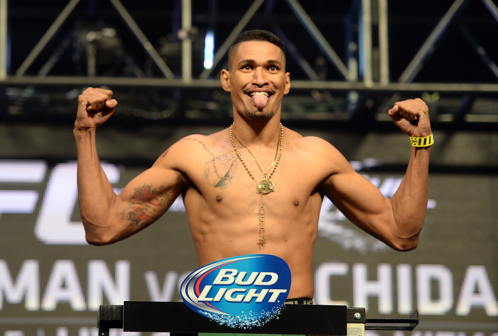 . Ildemar Alcantara during weigh ins for UFC 175 at the Mandalay Bay Events Center July 4, 2014. (Photo by Hans Gutknecht/Los Angeles Daily News)