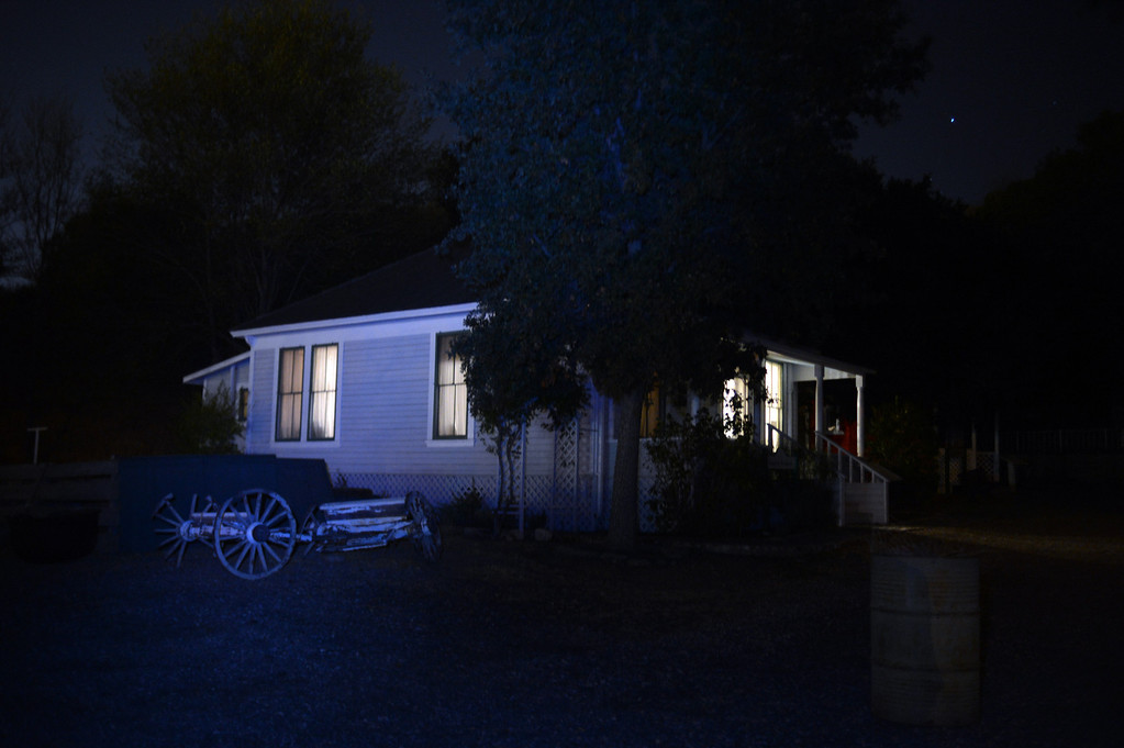 . Members of the Enlightened Paranormal Investigators of California, hunt for ghosts at the Santa Clarita Historical Heritage Junction in Newhall Friday, October 25, 2013. (Photo by Hans Gutknecht/Los Angeles Daily News)