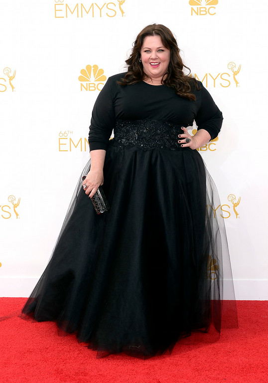 . Melissa McCarthy on the red carpet at the 66th Primetime Emmy Awards show at the Nokia Theatre in Los Angeles, California on Monday August 25, 2014. (Photo by John McCoy / Los Angeles Daily News)