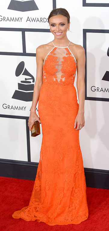 . Giuliana Rancic arrives at the 56th Annual GRAMMY Awards at Staples Center in Los Angeles, California on Sunday January 26, 2014 (Photo by David Crane / Los Angeles Daily News)