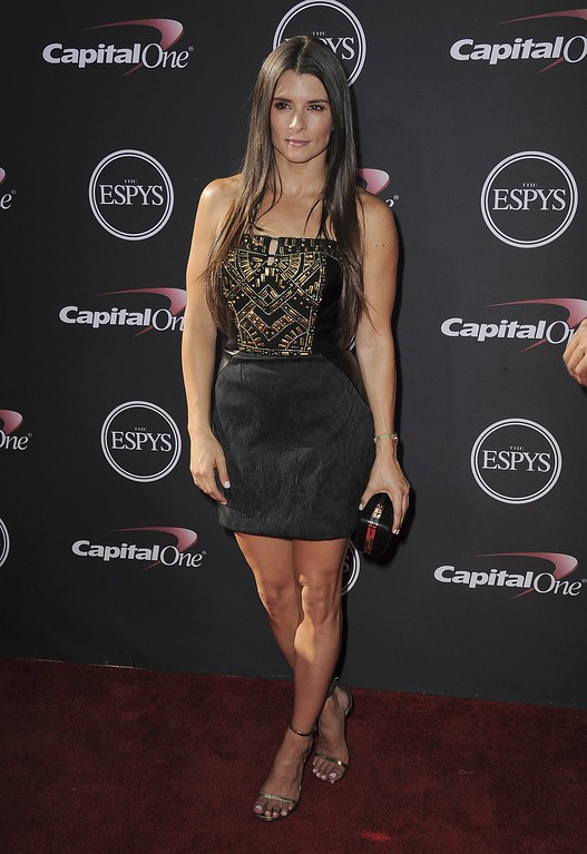 . NASCAR driver Danica Patrick arrives at the ESPY Awards on Wednesday, July 17, 2013, at Nokia Theater in Los Angeles. (Photo by Jordan Strauss/Invision/AP)