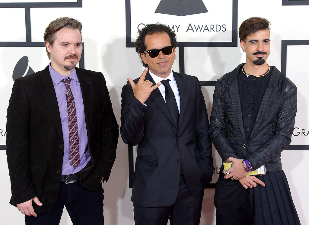 . Los Amigos Invisibles arrive at the 56th Annual GRAMMY Awards at Staples Center in Los Angeles, California on Sunday January 26, 2014 (Photo by David Crane / Los Angeles Daily News)