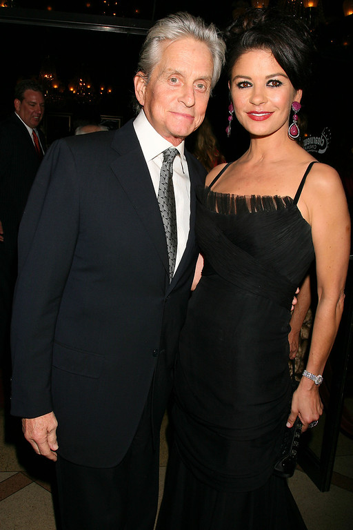 ". In this photo provided by StarPix, Michael Douglas and his wife Catherine Zeta-Jones arrive at the world premiere of ""Wall Street: Money Never Sleeps\"" Monday, Sept. 20, 2010 in New York.  (AP Photo/Dave Allocca, StarPix)"