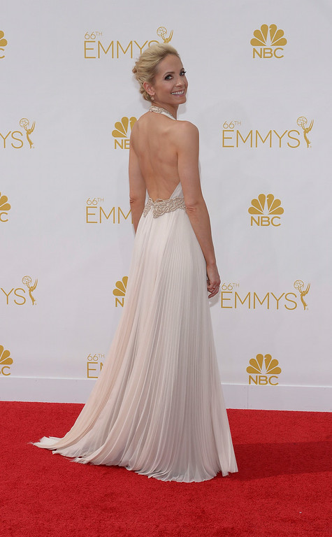 . Joanne Froggatt on the red carpet at the 66th Primetime Emmy Awards show at the Nokia Theatre in Los Angeles, California on Monday August 25, 2014. (Photo by John McCoy / Los Angeles Daily News)