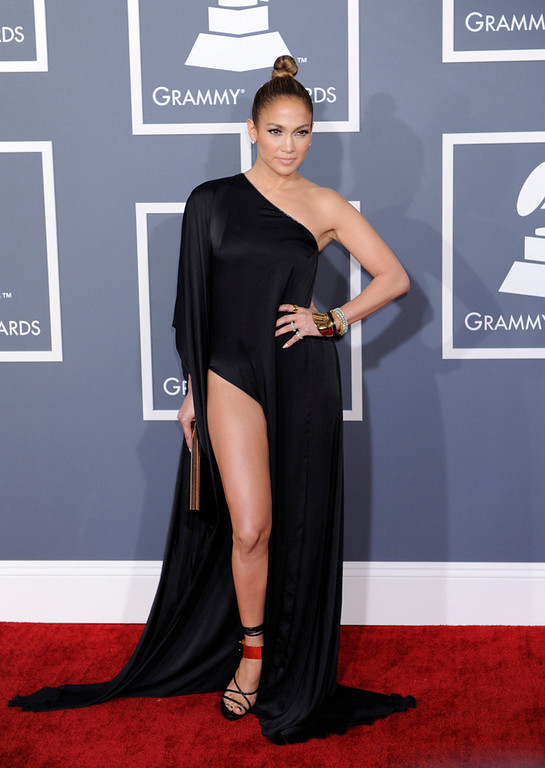 . Jennifer Lopez arrives to  the 55th Annual Grammy Awards at Staples Center  in Los Angeles, California on February 10, 2013. (Michael Owen Baker, L.A. Daily News)
