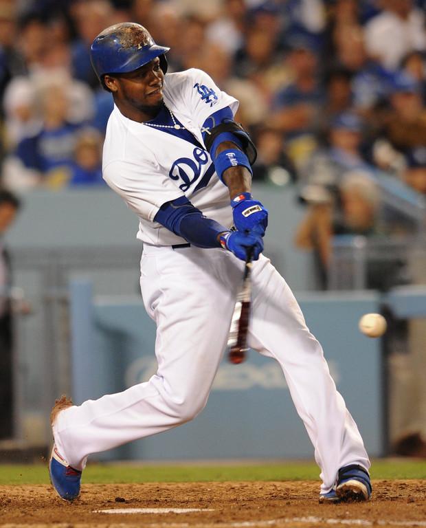 . <b>Hanley Ramirez #13 | SS | Bats: R, Throws: R <br />GP: 86  AB: 304  R: 62 H: 105  2B: 25 </b> <b>3B: 2  HR: 20  RBI: 57 BB: 27  SO: 52 </b> <b>SB: 10  BA: .345  OBP: .402 SLG: .638  OPS: .1.040</b> <br />(John McCoy/Los Angeles Daily News)