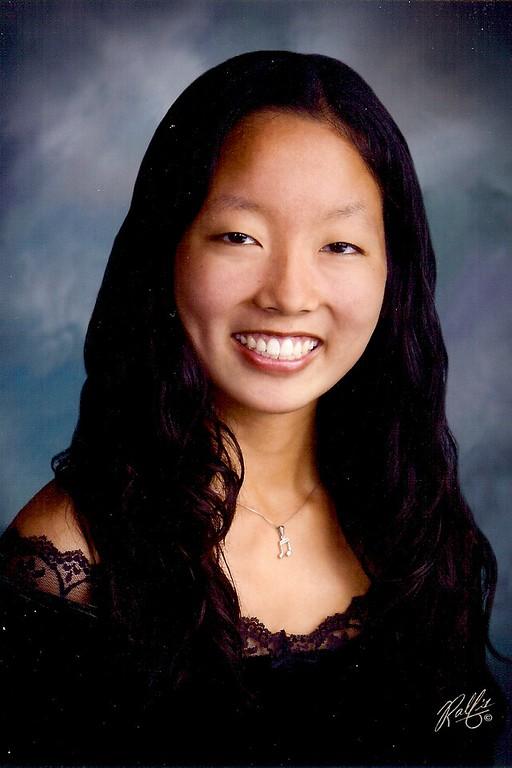 . <b>Name: </b>Lauren Inouye <br><b>School: </b>Mira Costa High School <br><b>GPA: </b>4.0 <br><b>Activities: </b>Cross Country, Track, Symphony Orchestra <br><b>After Graduation: </b>UC Berkeley, Major in Psychology <br><b>Future Career: </b>Teacher <br><b>Parents: </b>David and Katherine Inouye