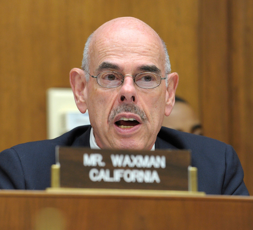 . House Oversight and Investigations subcommittee member Rep. Henry Waxman, D-Calif., speaks during the subcommittee\'s Solyndra hearing on Capitol Hill in Washington, Friday, Sept. 23 2011. The Fremont, Calif.-based company which has laid off its 1,100 employees was the first renewable-energy company to receive a loan guarantee under a stimulus-law program to encourage green energy and was frequently touted by the Obama administration as a model. (AP Photo/Susan Walsh)