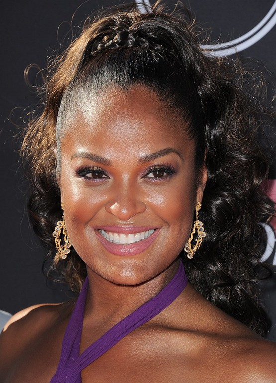 . Laila Ali arrives at the ESPY Awards on Wednesday, July 17, 2013, at Nokia Theater in Los Angeles. (Photo by Jordan Strauss/Invision/AP)