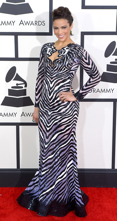 . Paula Patton arrives at the 56th Annual GRAMMY Awards at Staples Center in Los Angeles, California on Sunday January 26, 2014 (Photo by David Crane / Los Angeles Daily News)