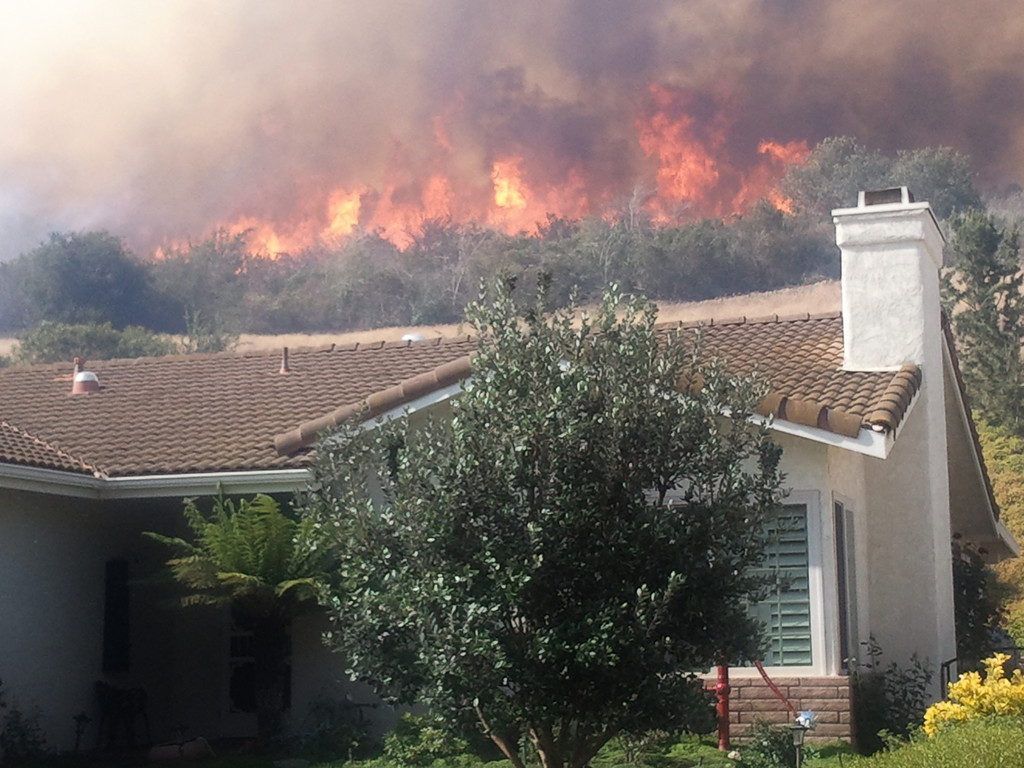 . The Springs Fire in Camarillo broke out after 6 a.m. on May 2, 2013. The fire has grown to over 2000 acres and is burning close to homes. (Gene Blevins/Los Angeles Daily News)