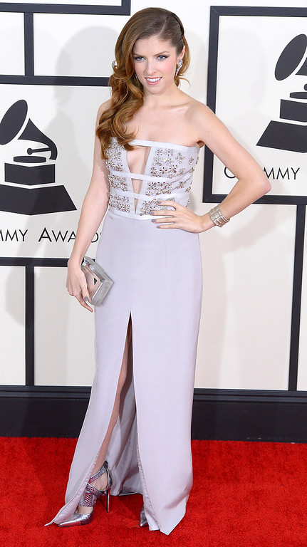 . Anna Kendrick arrives at the 56th Annual GRAMMY Awards at Staples Center in Los Angeles, California on Sunday January 26, 2014 (Photo by David Crane / Los Angeles Daily News)