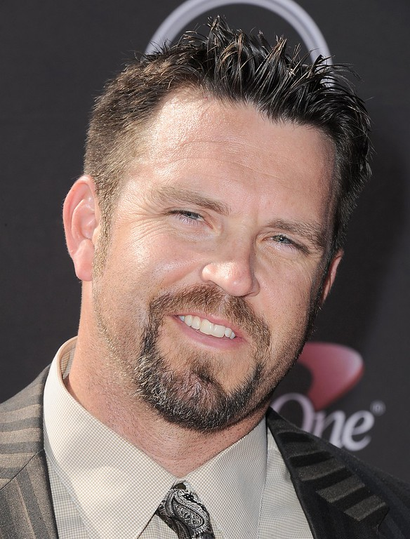 . Arizona Diamondbacks\' Heath Bell arrives at the ESPY Awards on Wednesday, July 17, 2013, at Nokia Theater in Los Angeles. (Photo by Jordan Strauss/Invision/AP)