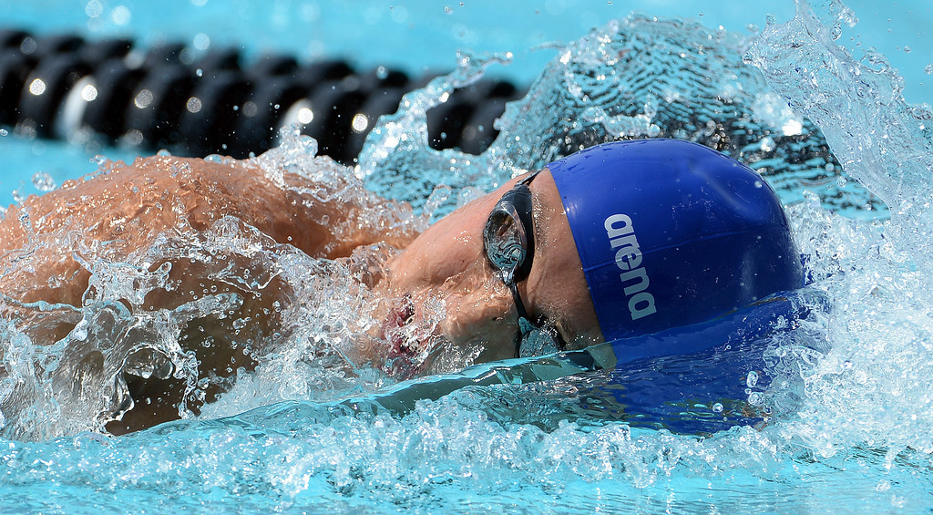 . Rowland\'s Michael Wang competes in the 200 yard freestyle during the Division 2 CIF Southern Section Swimming Championships in the Riverside Aquatics Complex at Riverside City College in Riverside, Calif., on Saturday, May 17, 2014.