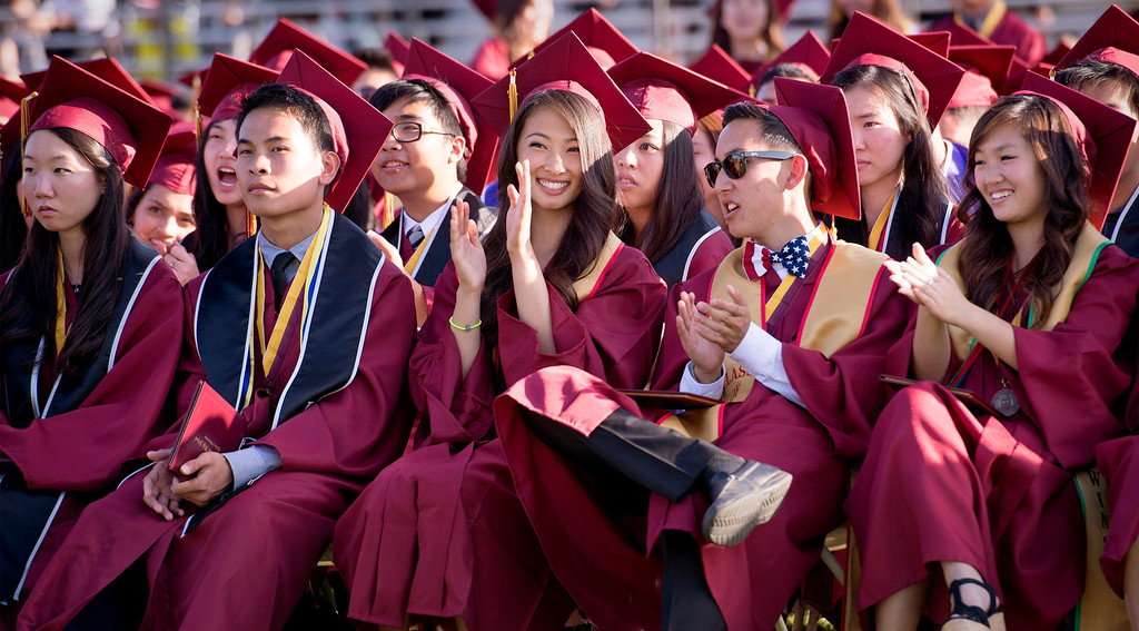 . Wilson High graduates receive diplomas during the 46th annual commencement exercises at the Hacienda Heights campus May 20, 2013.    (SGV Tribune staff photo by Leo Jarzomb)
