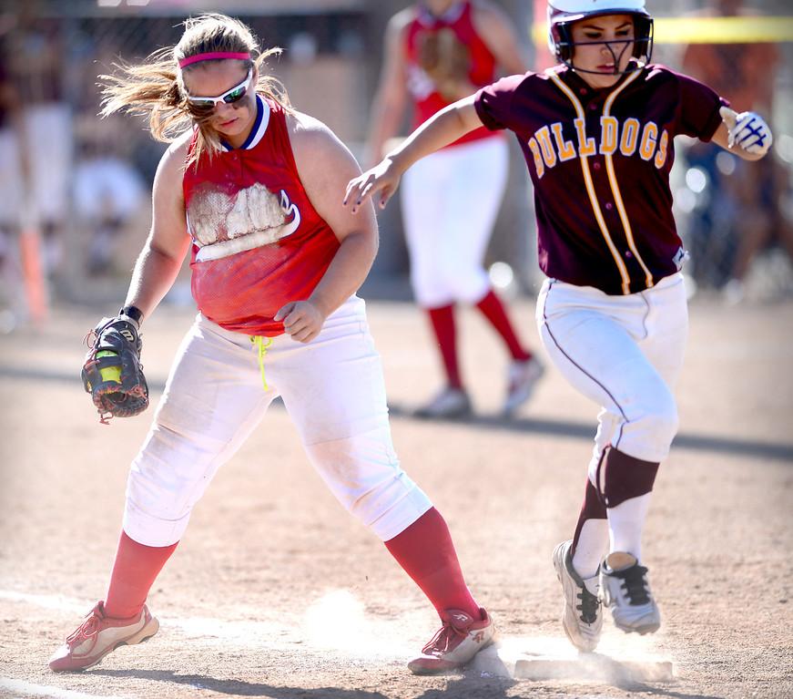 . Los Altos defeats West Covina 4 to 3 Thursday, May 15, 2014 at West Covina High School. (Photo by Sarah Reingewirtz/Pasadena Star-News)