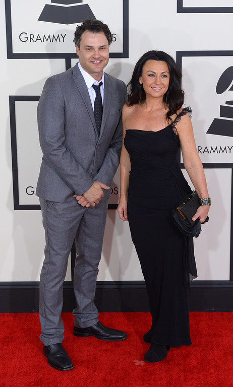 . The Greencards arrive at the 56th Annual GRAMMY Awards at Staples Center in Los Angeles, California on Sunday January 26, 2014 (Photo by David Crane / Los Angeles Daily News)