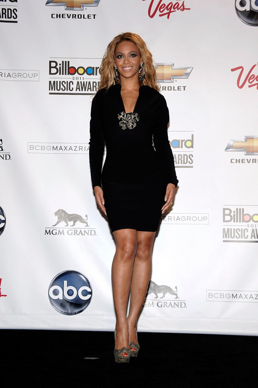 . Singer Beyonce Knowles poses in the press room at the 2011 Billboard Music Awards in Las Vegas on Sunday, May 22, 2011. (AP Photo/Dan Steinberg)