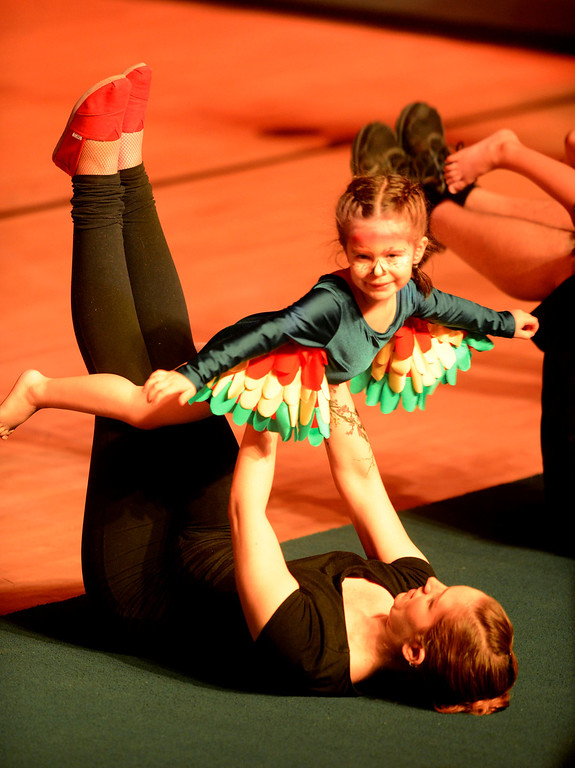 . Youth perform mini-acrobatics during the Great Y Circus in Redlands May 3, 2013.  GABRIEL LUIS ACOSTA/STAFF PHOTOGRAPHER.