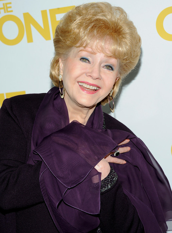 ". Actress Debbie Reynolds attends the ""One For The Money\"" premiere at the AMC Loews Lincoln Square theater on Tuesday, Jan. 24, 2012 in New York. (AP Photo/Evan Agostini)"