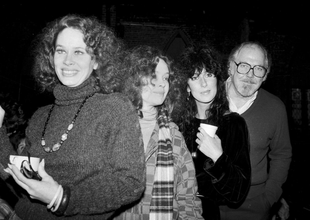 ". Director Robert Altman, right, poses with actresses, from left, Karen Black, Sandy Dennis and Cher in New York City, Monday, Dec. 29, 1981.  They are starting rehearsals for a Broadway-bound play ""Come Back to the Five and Dime, Jimmy Dean, Jimmy Dean.\""  (AP Photo/Marty Lederhandler)"