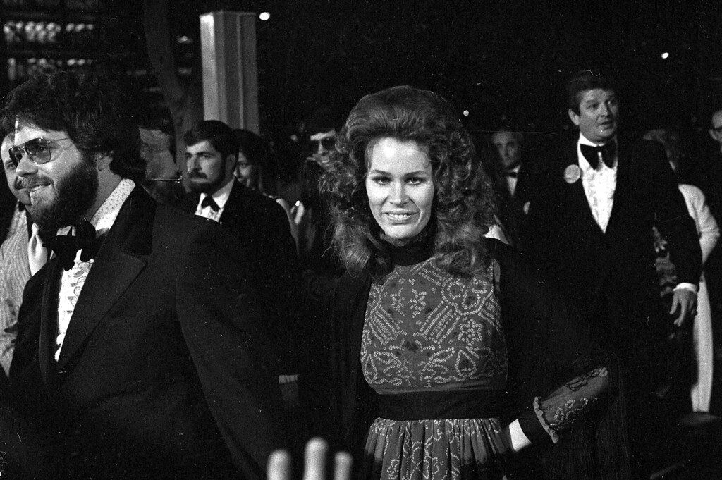 ". Karen Black, nominated for best supporting actress for her role in ""Five Easy Pieces,\"" arrives at the Academy Awards presentations in Los Angeles, April 15, 1971.  (AP Photo)"