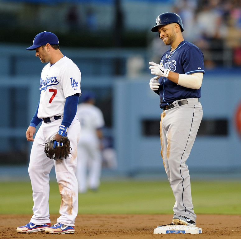 . <b>JAMES LONEY</b> <br />With the Dodgers acquiring first baseman Adrian Gonzalez in the trade, James Loney was the odd man out. The lefty had spent parts of seven seasons in Los Angeles. Loney hit only .230 in 30 games for Boston before becoming a free agent. He signed a one-year, $2 million deal with the Tampa Bay Rays, where the 29-year-old is now hitting .311 with 10 home runs and 55 RBIs.   (Michael Owen Baker/L.A. Daily News)
