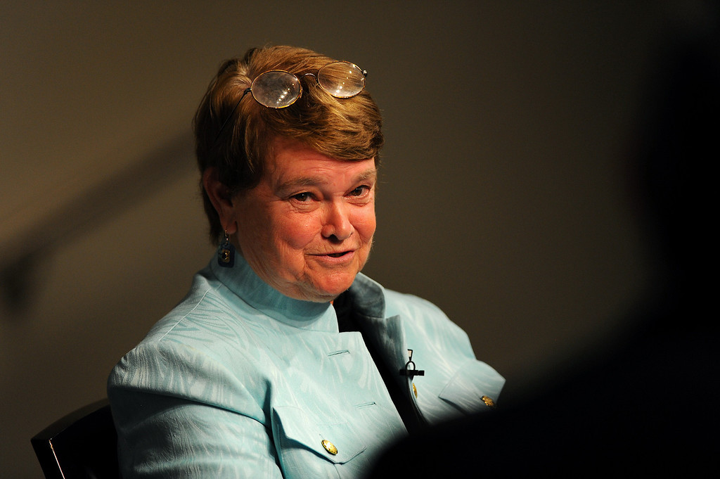 . Former state legislator Sheila Kuehl tackles a question at the 3rd District Board of Supervisors debate, Thursday, March 20, 2014, at UCLA�s California NanoSystems Institute Auditorium. (Photo by Michael Owen Baker/L.A. Daily News)