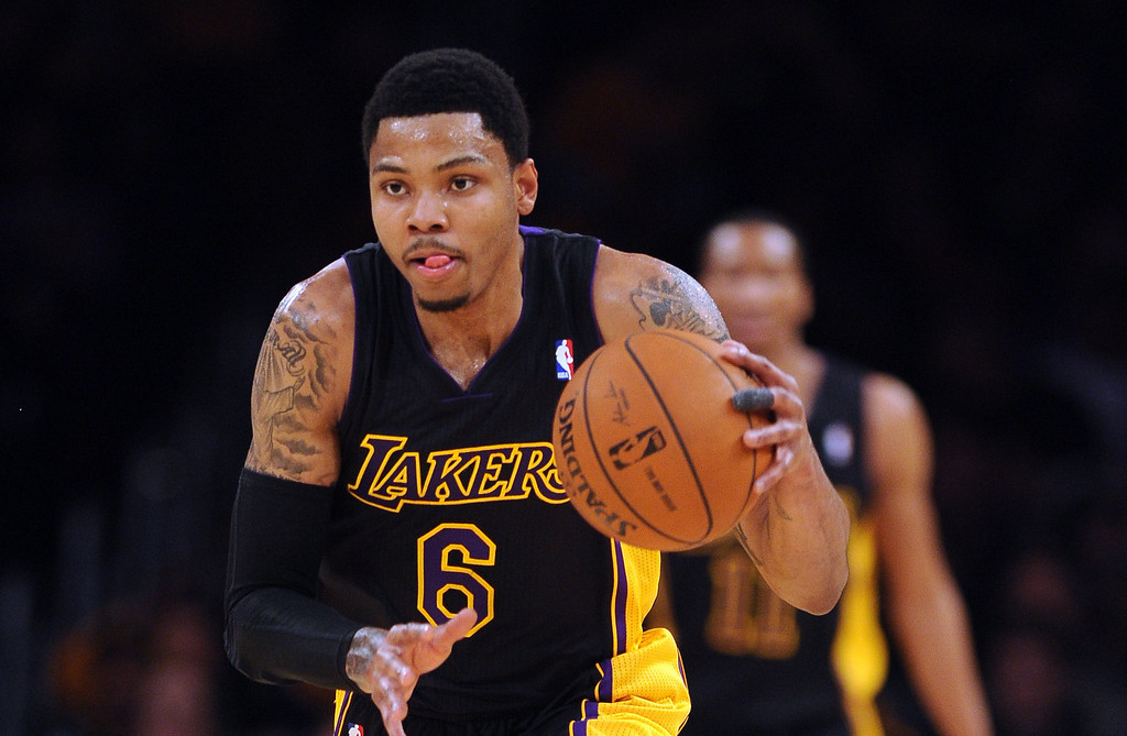 . <b>Kent Bazemore</b>, small forward, averaged 13.1 points and 3.1 assists in 28 minutes through 23 games after arriving two months ago via trade from Golden State. <br /><br /> <b> Outlook</b>: The Lakers will likely extend Bazemore�s $1.1 million qualifying offer to make him a restricted free agent. They believe his work ethic and athleticism will spark improvement.   (Photo by Hans Gutknecht/Los Angeles Daily News)