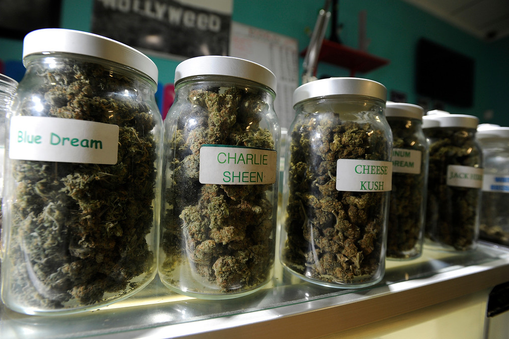 . A wide variety of Marijuana is available at Green Kiss Collective on Vineland Avenue in North Holywood, CA 5/23/2013(John McCoy/LA Daily News)