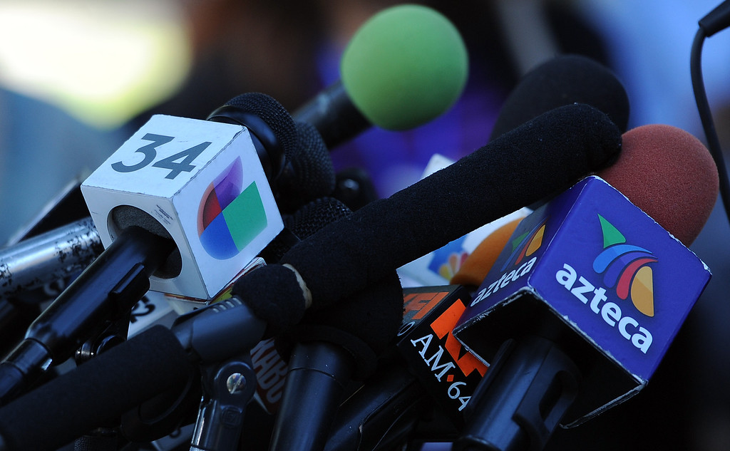. A press conference with concerned regional elected officials calling for Senator Ron Calderon to resign his position in the California State Senate in front of the Bell Gardens City Hall in Bell Gardens , Calif., on Wednesday, Nov. 13, 2013.