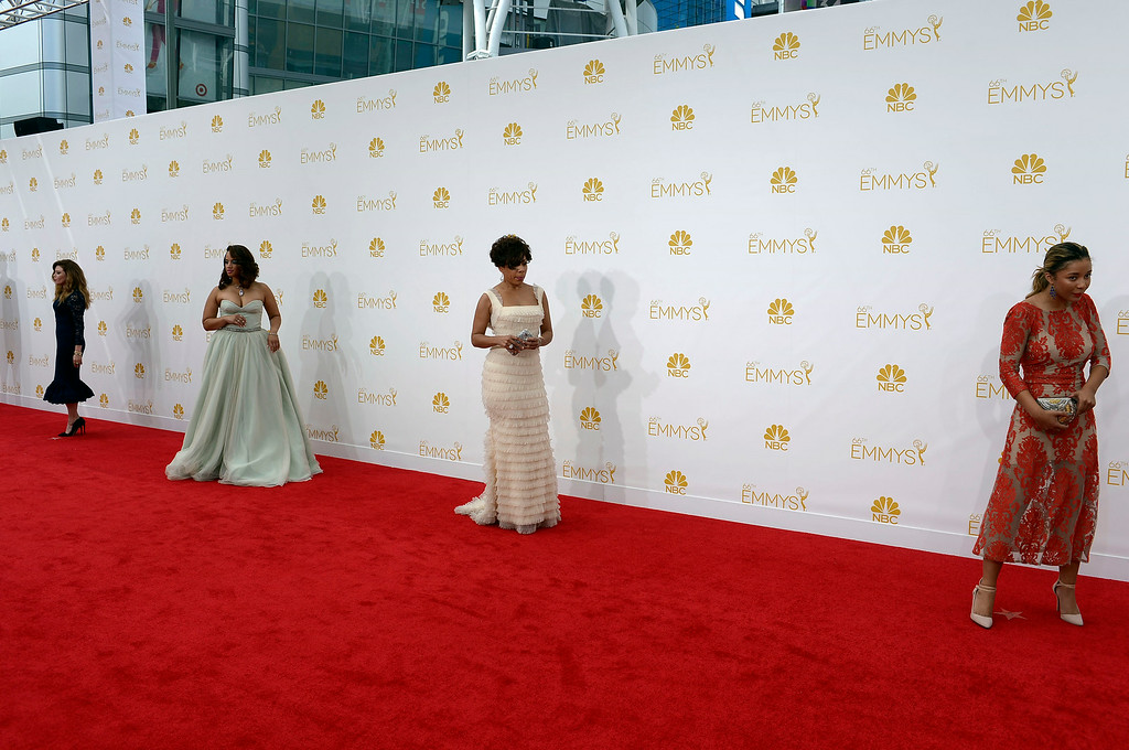. Actors on the red carpet at the 66th Primetime Emmy Awards show at the Nokia Theatre in Los Angeles, California on Monday August 25, 2014. (Photo by John McCoy / Los Angeles Daily News)