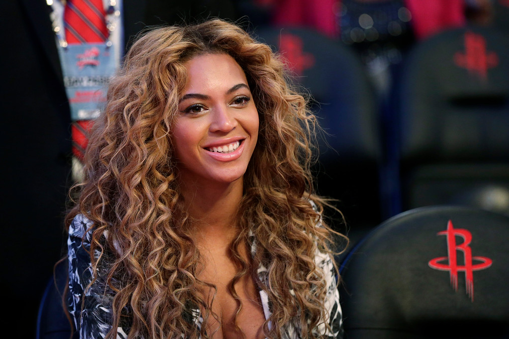 . In a Sunday, Feb. 17, 2013 file photo, Beyonce sits courtside before the NBA All-Star basketball game, in Houston.    (AP Photo/Eric Gay, File)