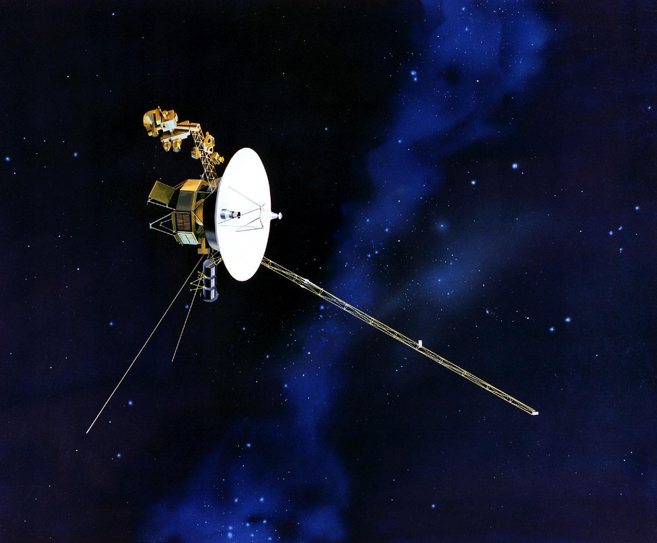 . This artists rendering provided by NASA shows the Voyager spacecraft. Launched in 1977, the twin spacecraft are exploring the edge of the solar system. Thirty-five years after leaving Earth, Voyager 1 is reaching for the stars. Sooner or later, the workhorse spacecraft will bid adieu to the solar system and enter a new realm of space _ the first time a man-made object will have escaped to the other side. (AP Photo/NASA)