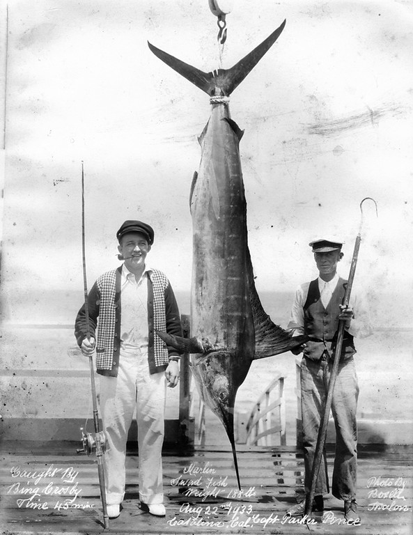 . Bing Crosby Marlin Catch Photo Courtesy Catalina Island Museum