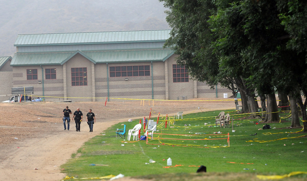 . 28 people have been injured due to malfunctioning fireworks at an annual 4th of July show in Simi Valley.  Twenty people were taken to hospitals late Thursday with minor to moderate injuries after the blast at the city-run Fireworks Extravaganza at Rancho Santa Susana Community Park.  (Photo by Dean Musgrove/Los Angeles Daily News)
