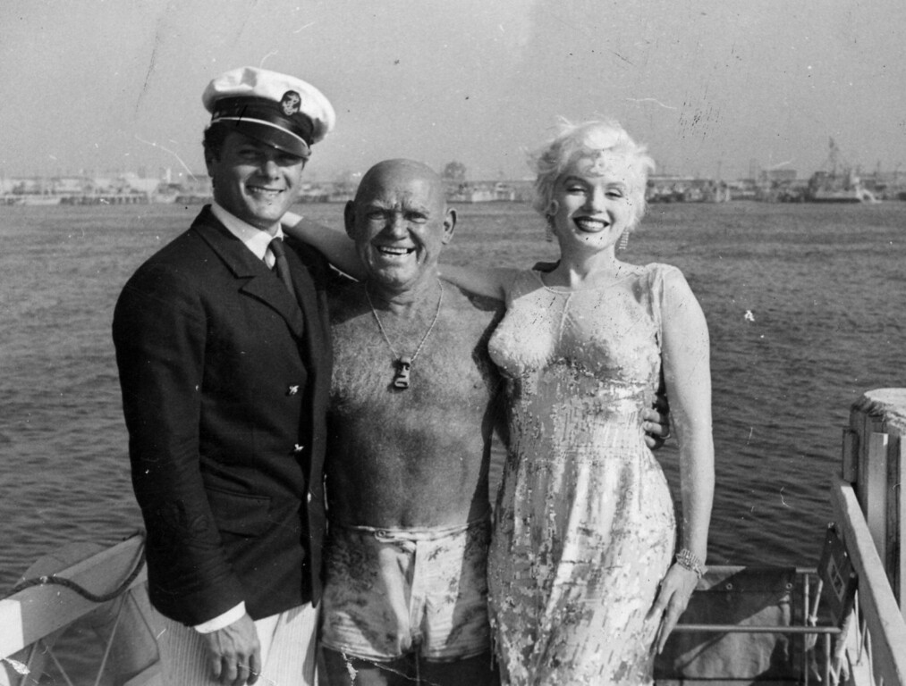 . Tony Curtis, Duke Fishman and Marilyn Monroe Photo Courtesy Catalina Island Museum
