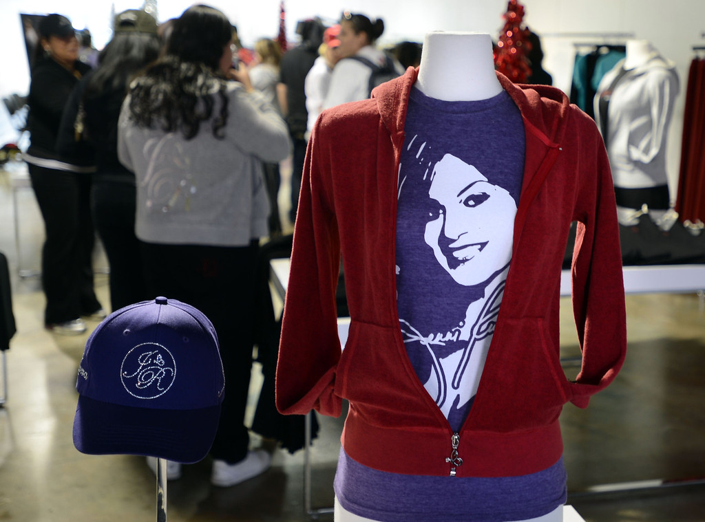 . Dec. 9 marks the one year anniversary of the death of the singer Jenni Rivera.  Many product  and clothing lines are available Inside the Jenni Rivera Boutique in Panorama City.  Panorama City Calif., December 3, 2013.   (Photo by Stephen Carr / Daily Breeze)