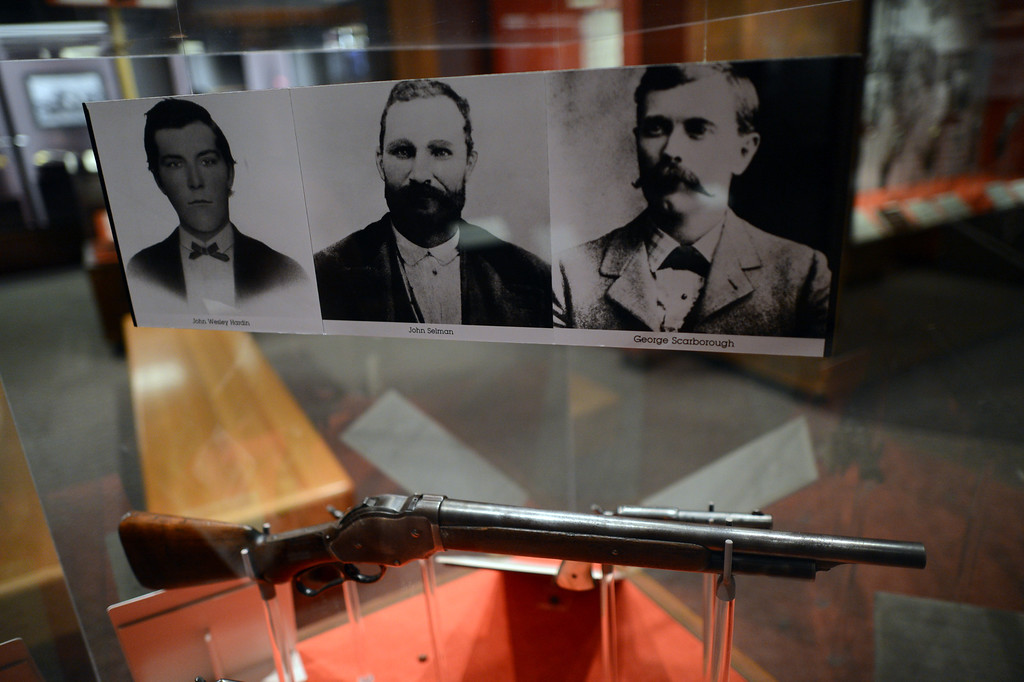 . Guns on display at the Autry National Center in Los Angeles. Western Frontiers: Stories of Fact and Fiction inaugurates the Autry�s new Gamble Firearms Gallery and celebrates the gift of the George Gamble Collection, an incomparable selection of Western firearms and related materials. The exhibition explores the many roles guns have played in the history of the West, from the opening of the frontier in the late eighteenth century through television Westerns in the middle of the twentieth century. (Hans Gutknecht/Los Angeles Daily News)