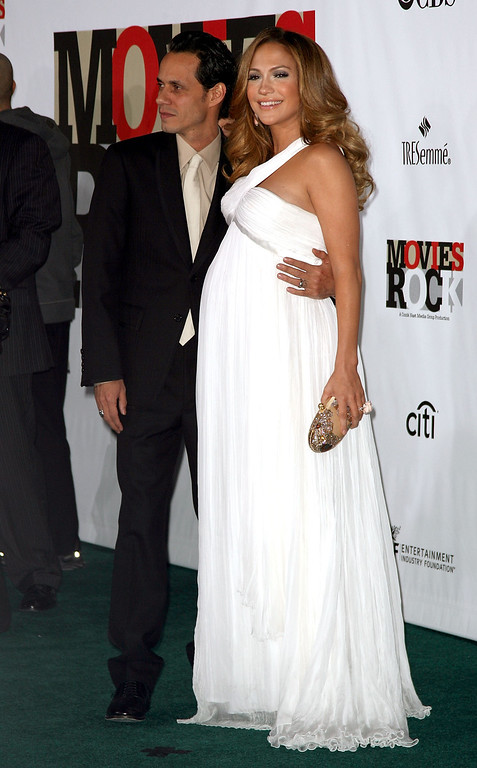 ". HOLLYWOOD - DECEMBER 02:  Actress/singer Jennifer Lopez and Actor/singer Marc Anthony arrives at ""Movies Rock\"" A Celebration Of Music In Film held at the Kodak Theatre on December 2, 2007 in Hollywood, California.   (Photo by Frederick M. Brown/Getty Images)"