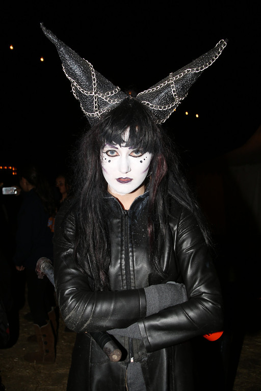 . An actor at the 5th Annual Los Angeles Haunted Hayride Premiere Night on October 10, 2013.  The fifth year anniversary of the Los Angeles Haunted Hayride took Hayriders through scenes of actual hauntings.  The month-long event will once again take place in Griffith Park�s Old Zoo area, which has been home to murder, torture, paranormal activity, serial killers, and abduction. (Photos by Boris Issaei for the Los Angeles Daily News)