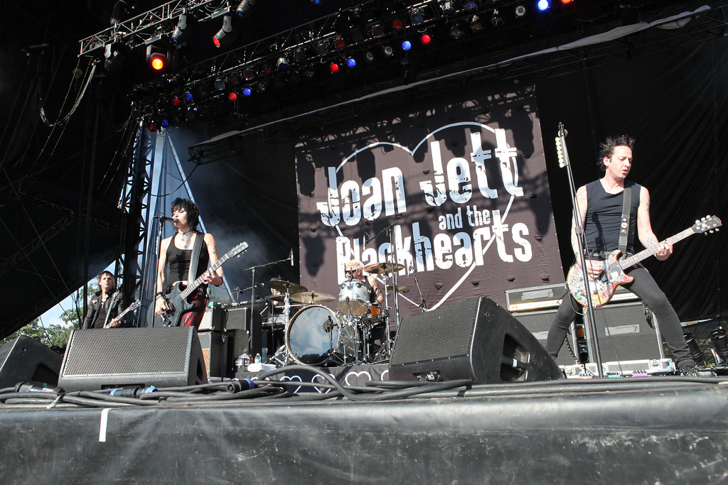 . Joan Jett & the Blackhearts performs at Piedmont Park on Friday, Sept. 21, 2012, in Atlanta. (Photo by Robb Cohen/RobbsPhotos/Invision/AP)